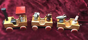 Vintage Craftsman Wooden Train Set From Europe. Nice Collectible Set - 60s/70s