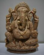 10.5 Lord Ganesha Statue Of Sunstone Gemstone Hand Carved Statues And Figures