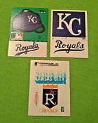Kansas City Royals Early 80and039s Fleer Logo Stickers