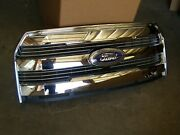 Oem 2015 2016 2017 Ford F150 Truck Pickup Chrome Grille New Take Off Nos