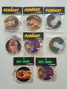 David Bowie Collection Of Vintage 1973 Anabas Photo Pendant Key Ring And Badge