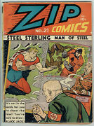 Zip Comics 21 G+/2.5 - Restored - Nazi Using Chemical Weapons On General