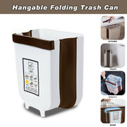 Wall Mounted Folding Waste Bin Household Kitchen Cabinet Door Hanging Trash Cans