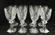 8 Vintage St. Louis Cut Crystal Stem Red Wine Goblets Chambord Pattern. 6 5/8andrdquo
