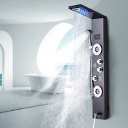 Stainless Steel Shower Panel Tower Led Rainandwaterfall Massage Body Jet System