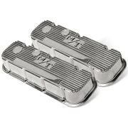 241-84 Holley Valve Covers Set Of 2 New Polished For Chevy Suburban Blazer Pair