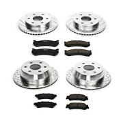 K2010 Powerstop 4-wheel Set Brake Disc And Pad Kits Front And Rear New For Chevy