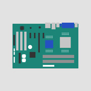 03h4939 Ibm 486dx-266 Intel I486 Dx/2 Cpu System Board Pulled From Pc 330 6571-l