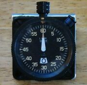 Heuer Ifr Stopwatch, 60 Second, 12 Minute Aircraft Timer, I.f.r. Model 542.838