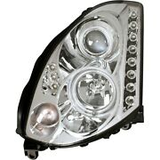 121364 Anzo Hid Headlight Lamp Driver And Passenger Side New Hid/xenon Coupe Lh Rh