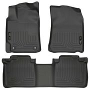 98901 Husky Liners Floor Mats Front New Black For Toyota Camry 2012-2017