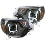 111290 Anzo Headlight Lamp Driver And Passenger Side New Lh Rh For Toyota Tacoma