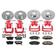 Kc2297 Powerstop Brake Disc And Caliper Kits 4-wheel Set Front And Rear Coupe