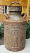 C1920and039s Fluted Sunoco Ellisco Embossed Service Station Gas Oil Can Garage