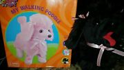 Rare Vintage All Geared Up Mechanical Toy Poodle Black Battery Operated