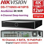 Hikvision Ds-7732nxi-i4/16p/s 32ch 16poe Plugandplay 4sata 4k Nvr 4-ch Deep-learn