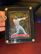 Mark Mcgwire Topps Gallery Of Heroes Stained Glass Die Cut Cardinals 1998 98