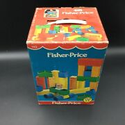 Vintage 1982 Fisher Price Blocks N More Building Toy 193 New Old Stock[an]