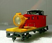 Tyco Mow Prr 984 Operating Red And Yellow Floodlight Car - Rare - Ho
