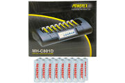 Powerex Mh-c801d Charger And 16 Aa Tenergy Nimh Rechargeable Batteries 2500 Mah