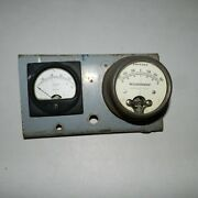 Weston Model 301-57 Volts Panel Meter And Amperes Weidenhoff 217 Rare