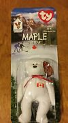 Ty Maple The Bear-1996 Mcdonalds Beanie Baby Extremely Rare With Errors