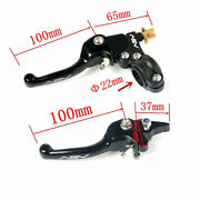 New Asv Clutch And Brake Folding Lever Motorcycle Atv Dirt Bike 7/8and039and039 22mm