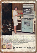 Magic Chef Vintage Gas Stove Ad 10 X 7 Reproduction Metal Sign Zf194