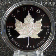 2020 Maple Leaf 20 Rhodium-plated Double-incuse Pure Silver Proof Coin Canada