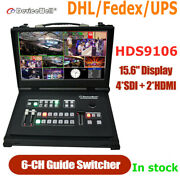 Devicewell Hds9106 Portable Video Switcher 6-channel 4sdi+2hdmi With Monitor