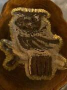Handmade 1980 Wall Hanger Owl Bird Wood Tree Trunk One Of A Kind J.a. Carving