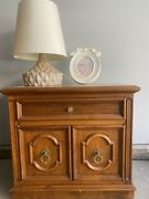 Teak Wood Furniture 1 Dresser Armoire 2 Small Cabinets 1 Small Side Table.