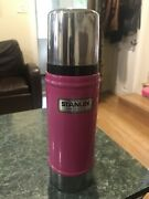 Stanley Insulted Thermos, Vintage Pink Stainless Steel Thermos. B100
