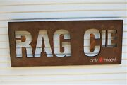 American Rag Clothing Steel Sign Brown/iron Color Fashion Vintage Rustic