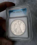 1842 1 Seated Liberty Silver Dollar Ms-62pl Prooflike Rare