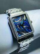 Michele Diamond Deco Blue Dial 0.45ct Ladies Watch Limited Edition Mw06x01a1074