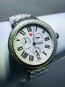Michele Diamond Dial Round Face Chronograph 0.60ct Ladies Watch Mw21a01a1966