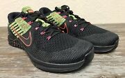 Nike Metcon Dsx Flyknit Black Racer Pink Volt 852930-014 Menand039s Size 11.5