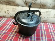 Antique Cast Iron Pressure Cooker Germany