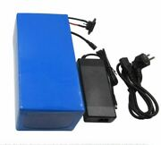 72v 60ah Li-ion Rechargeable Ebike Battery Pack And Charger New