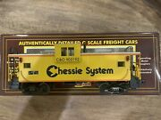 Mth 20-9104l Chessie Extended Vision Caboose In Box Scale O