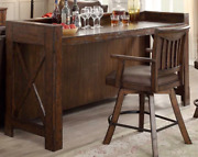 Large 82 Home Bar Distressed Old World Finish Accent Furniture Pub Table Dining