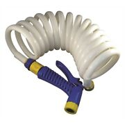 Marpac 7-0422 Coiled Washdown Hose 1/2x15and039 With Nozzle Boat Pump Fp020030