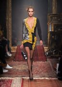 Ss16 Moschino Couture X Jeremy Sequined Mirror Frame Dress / Cookie Lyon Empire