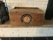 Antique C1800's Arm And Hammer Saleratus Crate Box, Wooden Box With Paper Labels