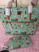 Nwt Disney Dooney And Bourke Bambi And Friends Shopper Tote And Matching Wallet