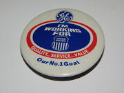 Vintage Advertising Pinback Button - Ge I'm Working For Union Pacific