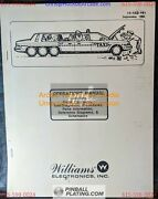 Taxi - Williams - Pinball Manual - Schematics - Instructions - Used