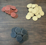 61 Vintage Dog Cat And Monkey Clay Poker Chips