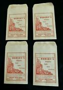 4-vintage Paper Dodson's Seed Store Seed Bulb Sacks Bags-danville Ill-garden-d